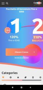 Cadoola Casino mobile