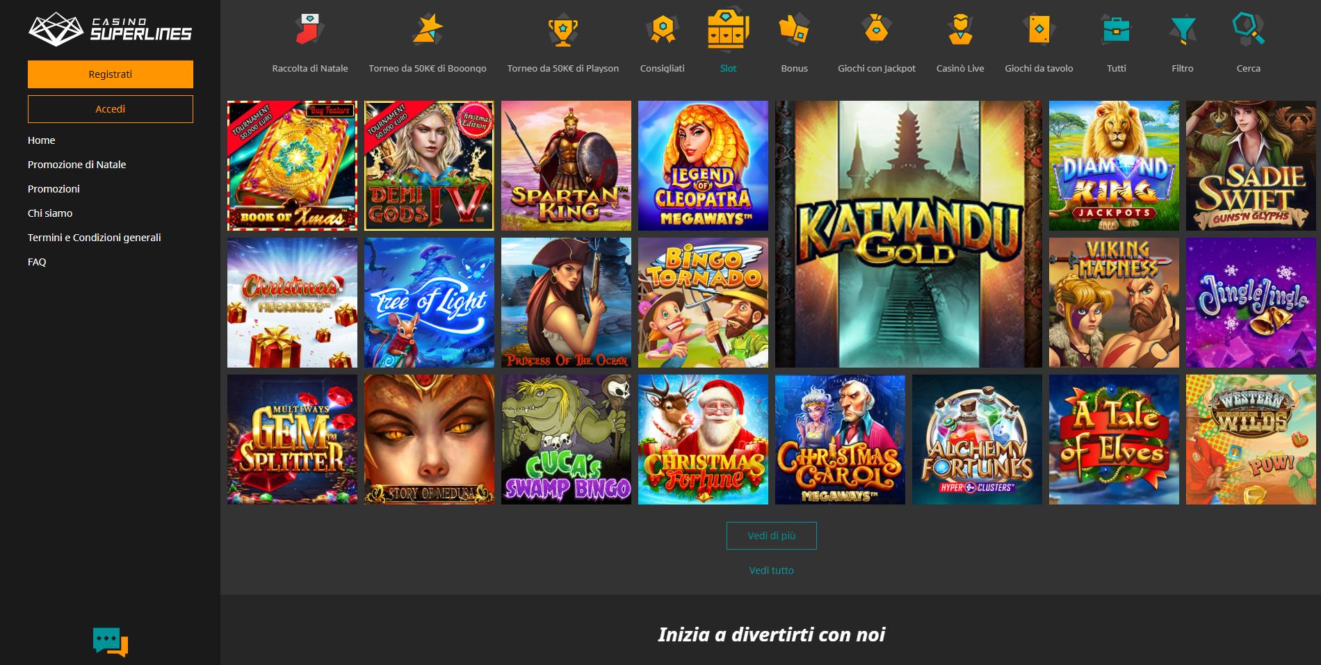 Giochi Superlines Casino