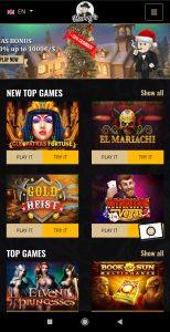 Harry's Casino mobile