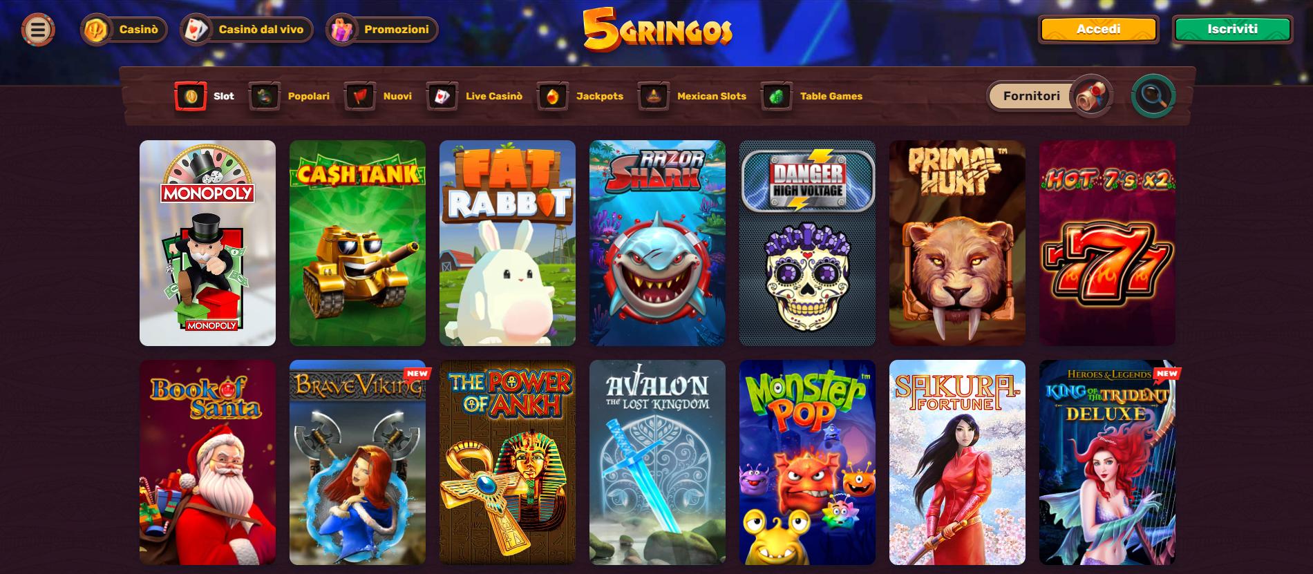 Giochi 5Gringos Casino