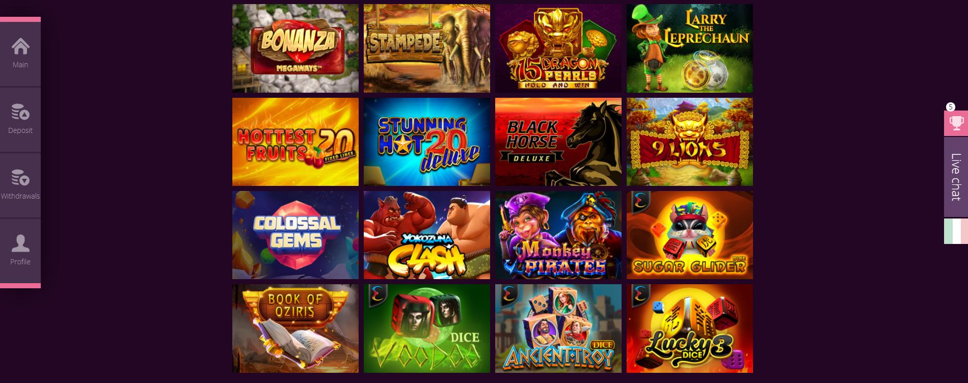 Giochi Malina Casino