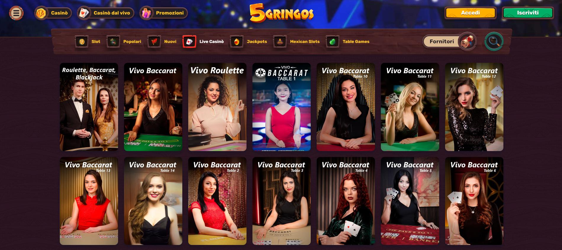 Live Casino 5Gringos