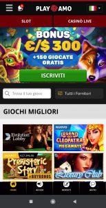 Playamo Casino mobile