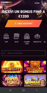 Casinonic mobile