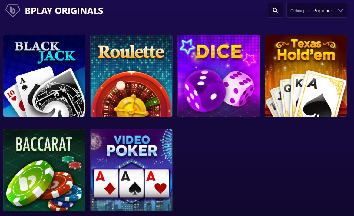 Giochi BPlay Casino