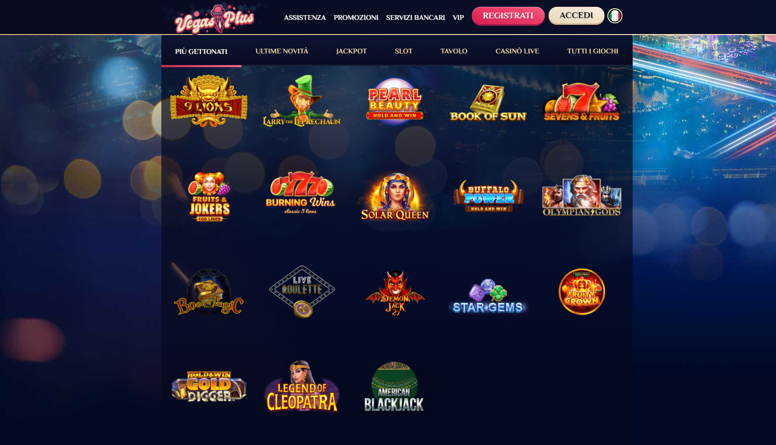Giochi VegasPlus