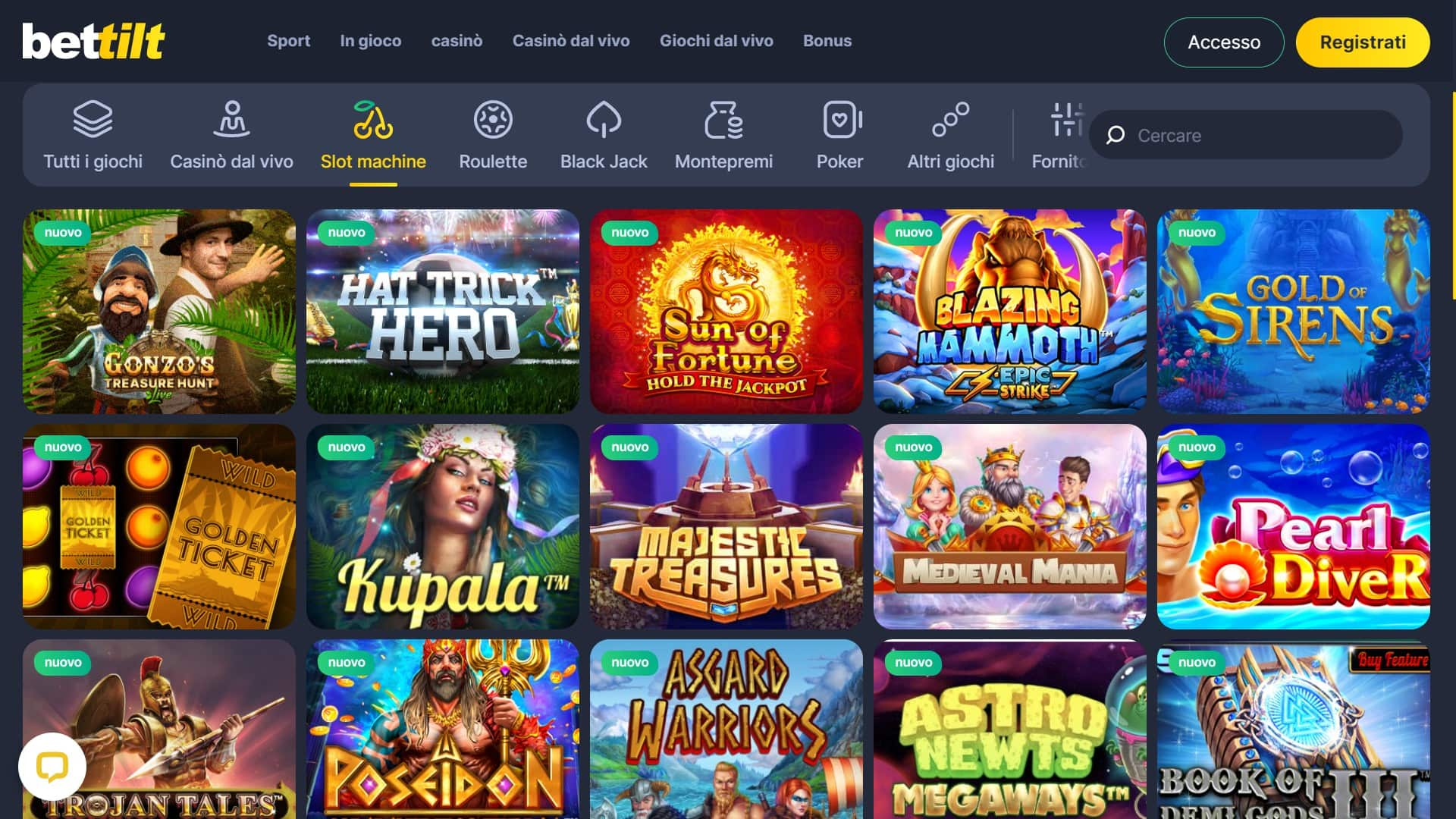 Giochi di Bettilt Casino