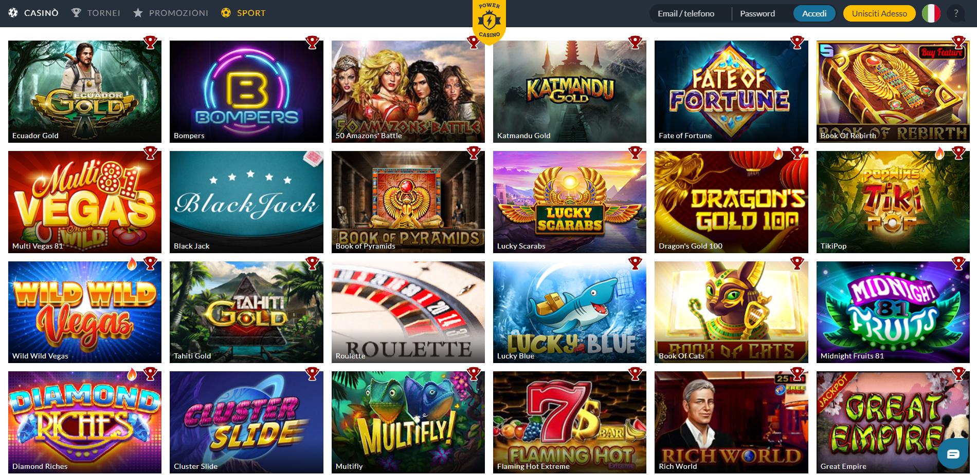 Giochi di Power Casino